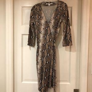 Diane Von Furstenberg Dresses - Diane von Furstenberg Python Wrap Dress